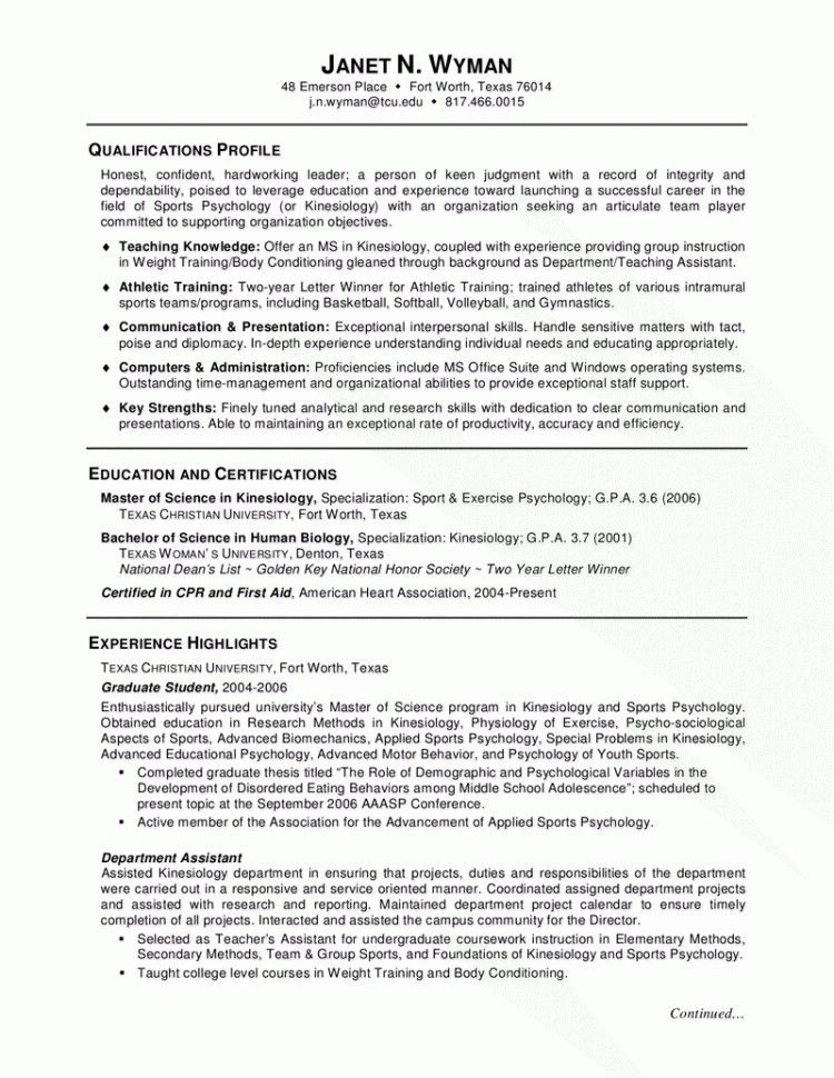 Resume Samples Harvard - Resume Template