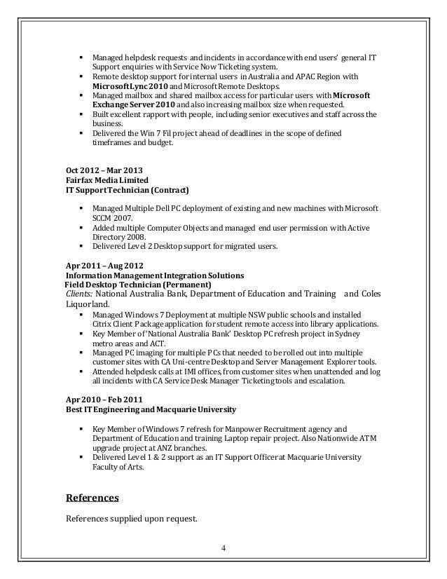 desktop support cover letter desktop support cover letter it desktop support resume - Desktop Support Cover Letter