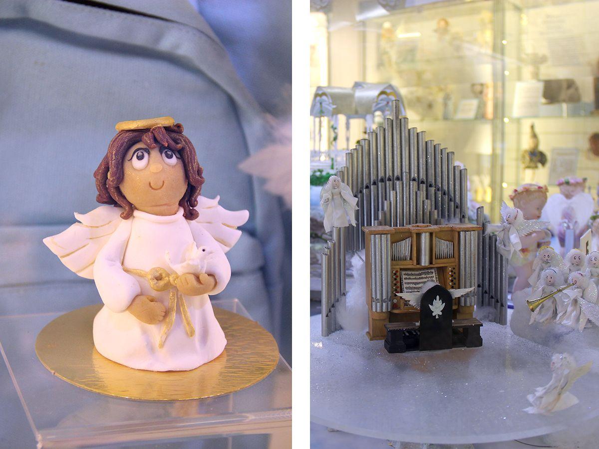 Слева марципановый ангел, справа – ангельский орган. Фото: Evgenia Shveda