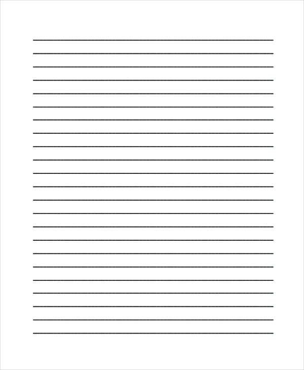 Blank Line Paper Sample Lined Paper 19 Documents In Pdf Word, 25 - sample lined paper