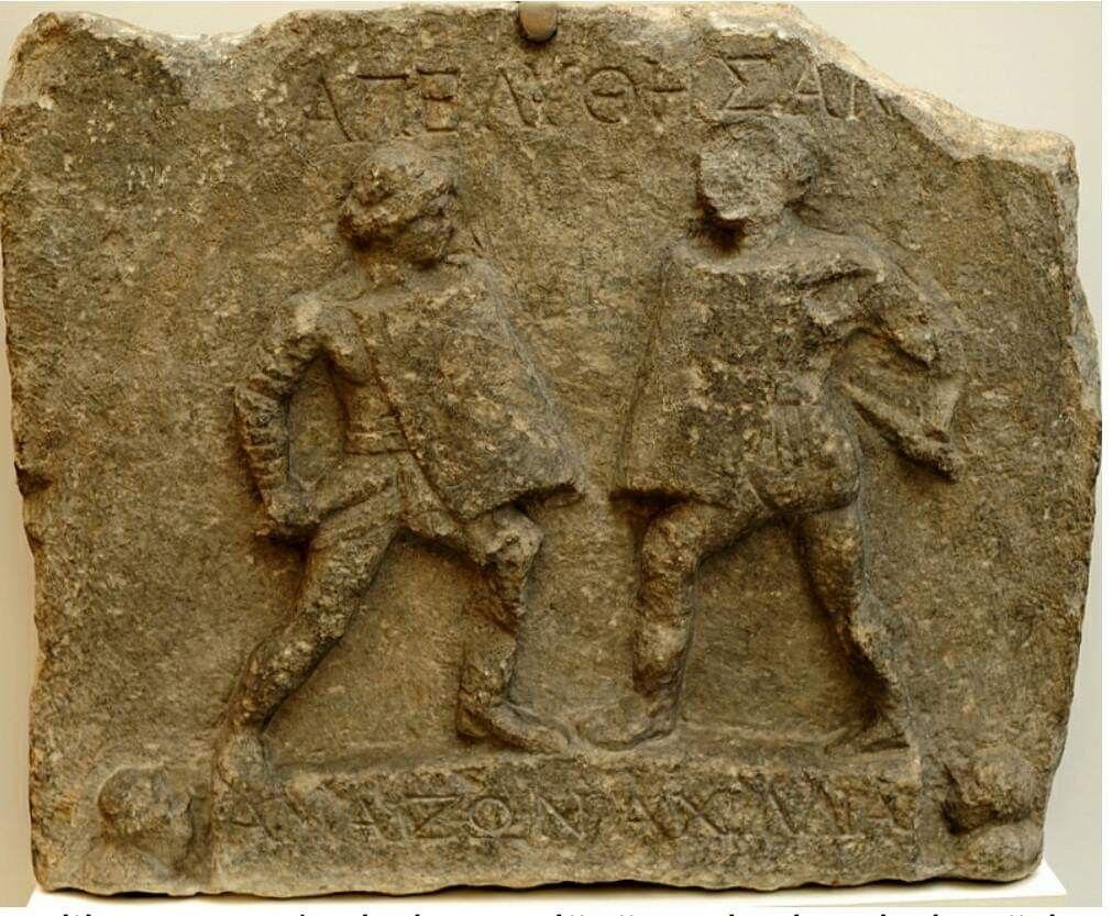 Gladiatrix stele Roman British Museum Roman gladiators