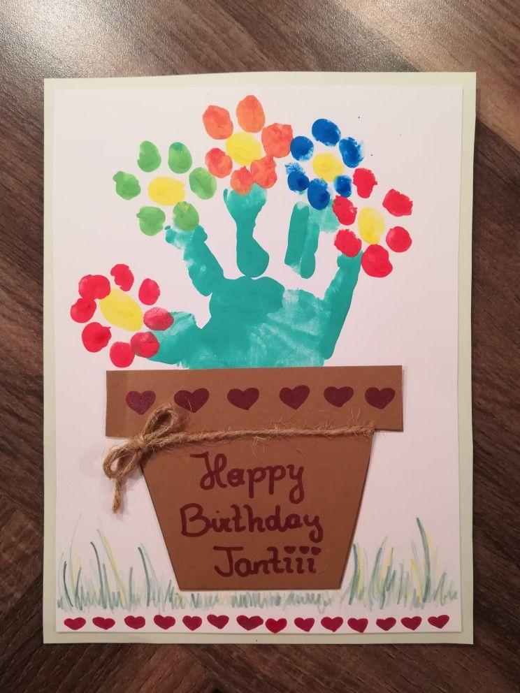 Geburtstagskarte Geburtstag Basteln Mit Kindern Blumen