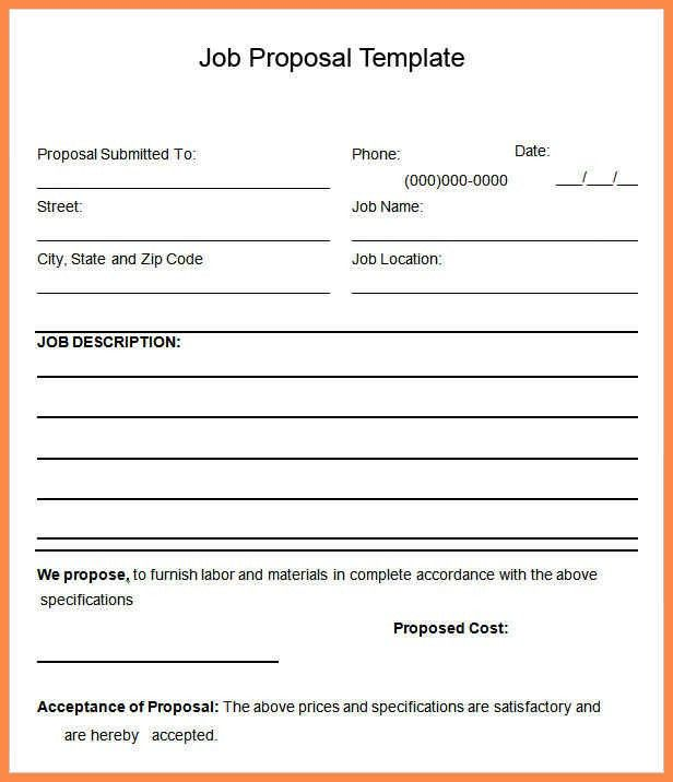 Proposal Word Template 20 Free Proposal Templates Microsoft Word - proposal template in word