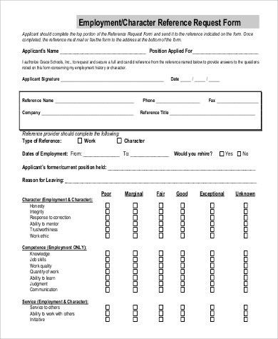 Contemporary Character Reference Form Template Mold - Resume Ideas ...