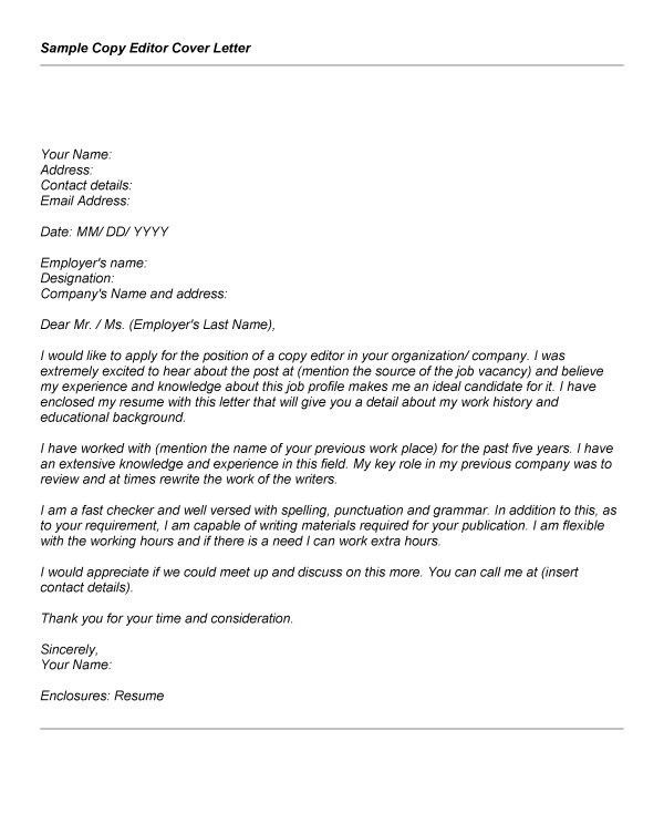 Magnificent Proofreader Resume Cover Letter Ideas - Example Resume ...