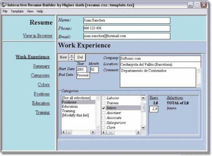 Online Resume Builder Free Download Canadian