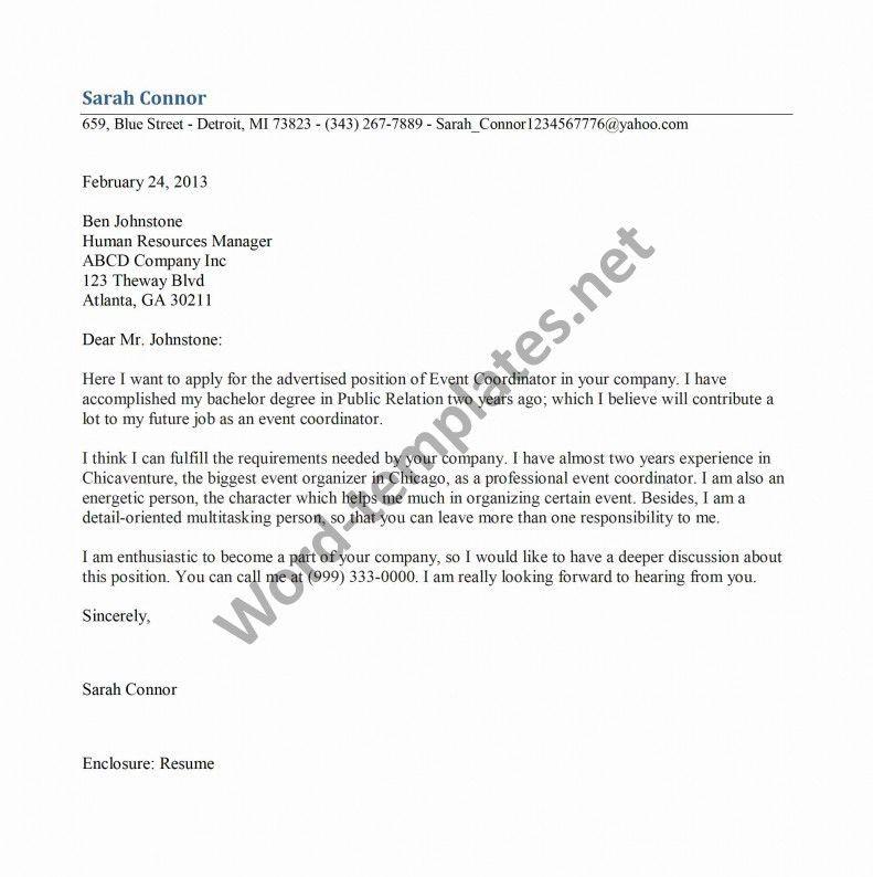 Insurance Coordinator Cover Letter | Node494-Cvresume.Cloud