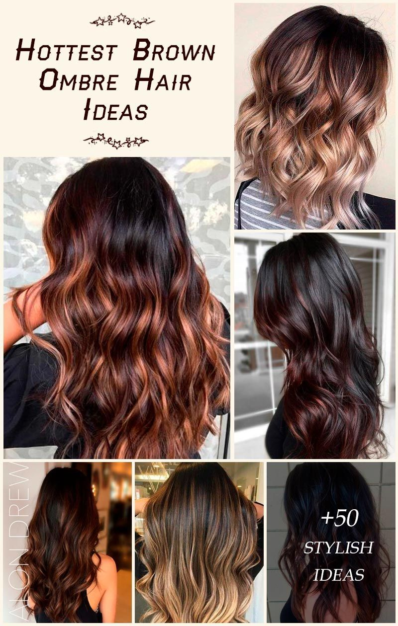 Dark, light, and medium brown ombre hair to upgrade your look. #glaminati #lifestyle #brownombre