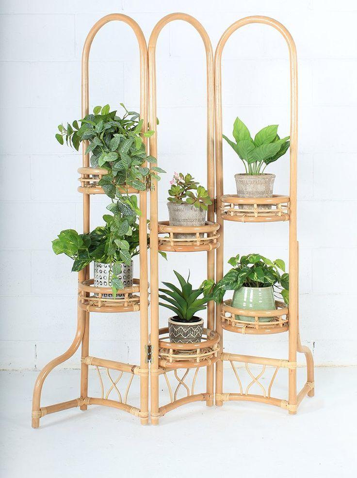 Jardinière en rotin avec écran Penelope #meuble # support-plante # plante