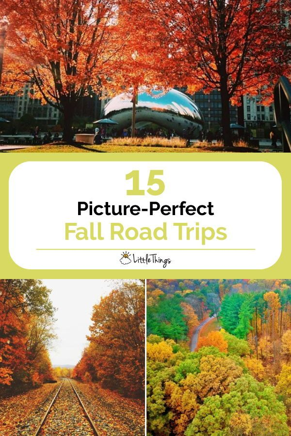 15 Picture-Perfect Fall Road Trips: What's red, yellow and orange all over? Here is our list of the best places to see fall colors in the country. #travel #roadtrips #planaroadtrip #travelguide #fall