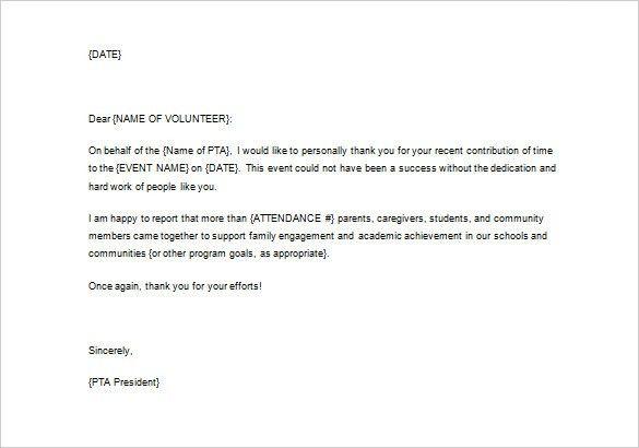 volunteer appreciation letter sample volunteer thank you letter appreciation letter sample - Volunteer Appreciation Letter Sample