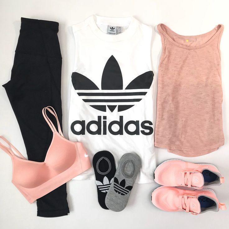 adidas top crop leggings yoga outfit athleisure nike sportsbra