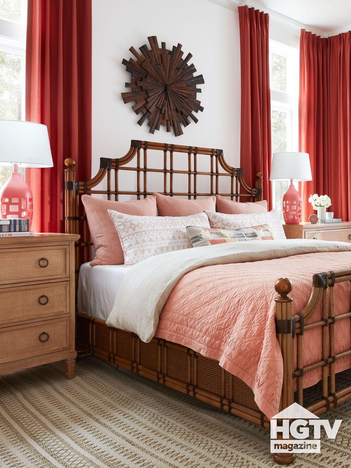HGTV Dream Home 2020 master bedroom featured in HGTV Magazine