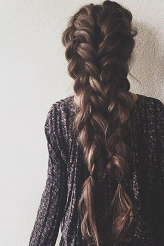 Sublime braids on dark long hair