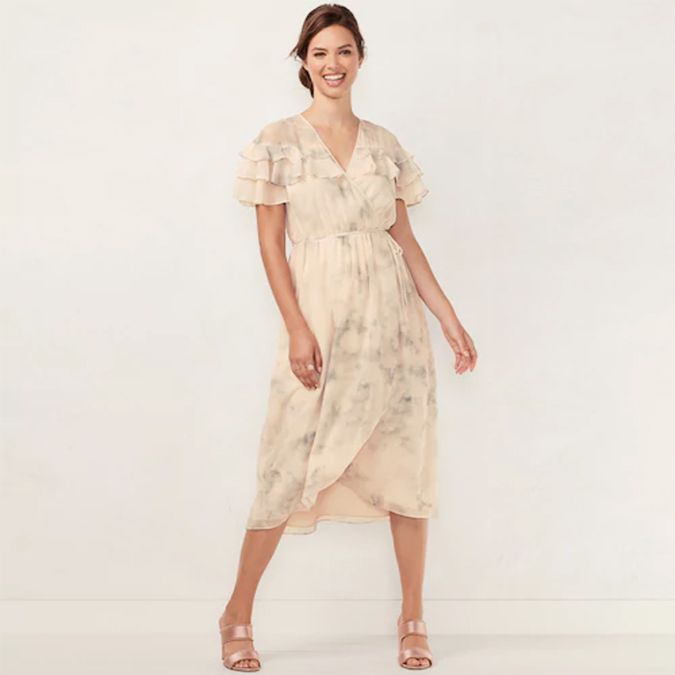 LC Lauren Conrad faux wrap dress