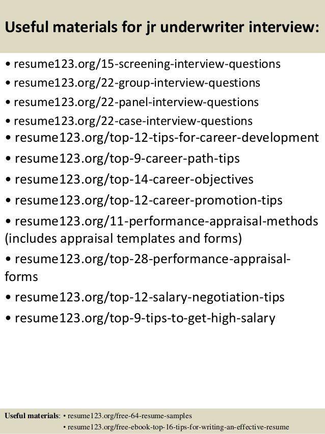 Insurance Underwriter Resume Sample Choice Image - resume format