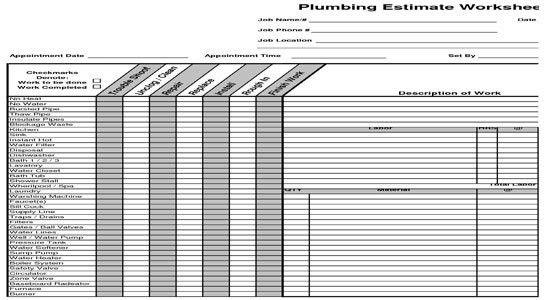 Plumbing Estimate Template Insurance Quotes Insurance Quotes - plumbing receipt template