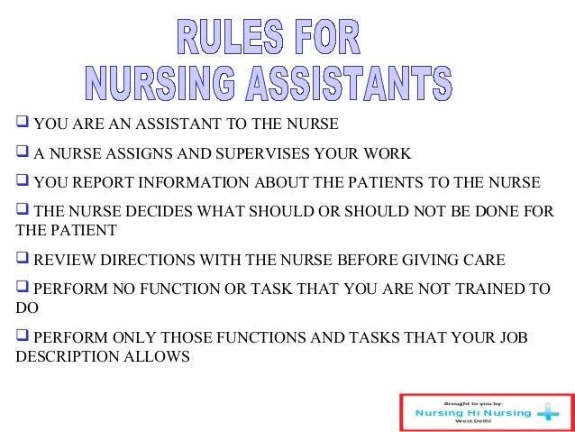 Responsibilities Of A Nursing Assistant The Patients Need - cna job description