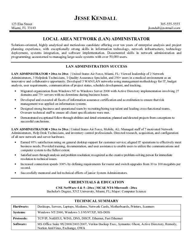 junior systems administrator resume sample resume junior system - Network Administrators Resume
