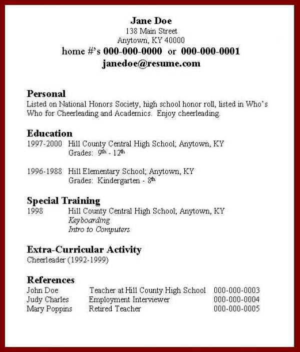 How To Do A Resume For First Job How To Make Resume For First Job - resume for first job examples