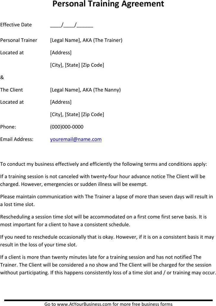 Nanny Contract Template 10 Sample Nanny Contract Templates Free - training agreement contract