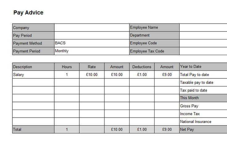Standard Payslip Template Salary Slip Format Free Template - download payslips