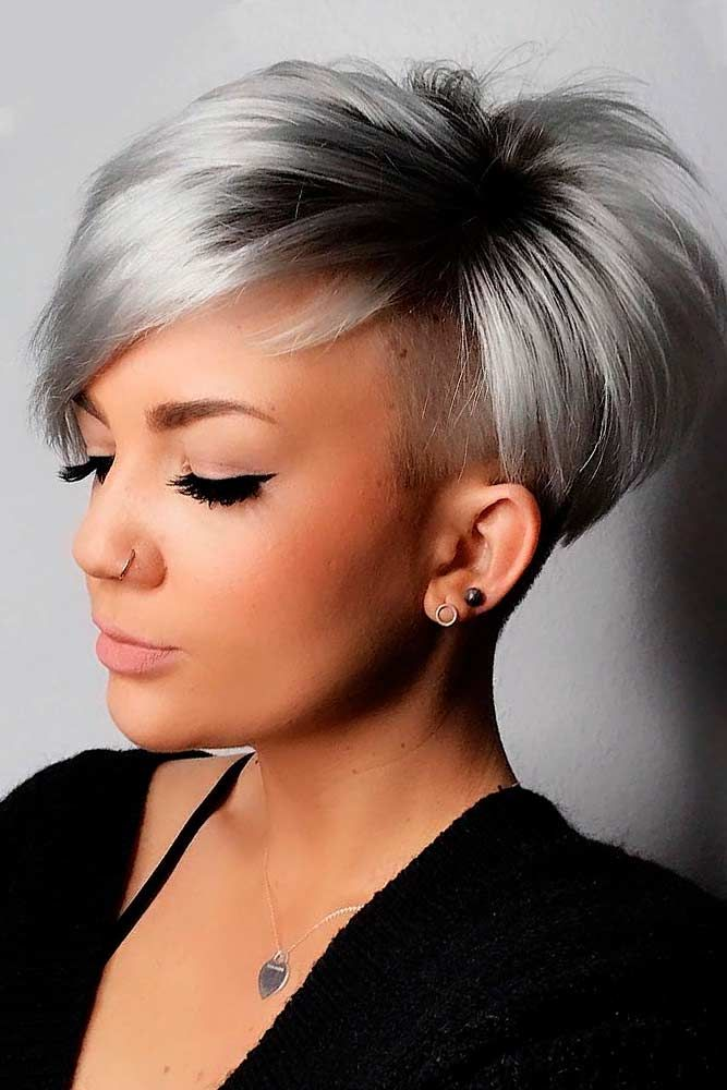Super Short Ash Bob Hairstyle #ashhair #shorthair ★ Wavy, straight asymmetrical bob hairstyles for short and medium hair without and with bangs can be found in our gallery. Be edgy and stylish! #glaminati #lifestyle #asymmetricalbob