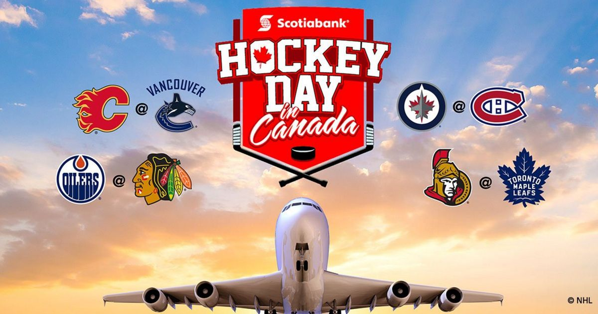 A full day of NHL match ups  to celebrate Scotiabank #HockeyDay in Canada!