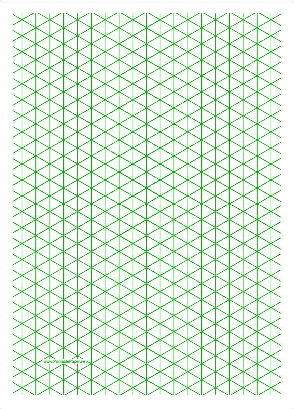 Grid Paper Template Graph Paper Office Templates, Graph Paper - isometric graph paper