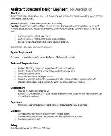 Job Description Of A Structural Engineer Structural Engineer Job - software developer job description