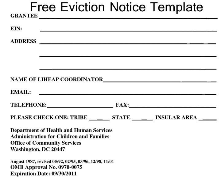 free printable eviction notice form - Thevillas