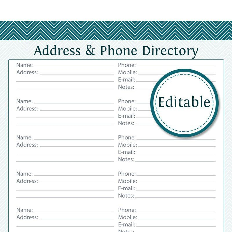 directory template word
