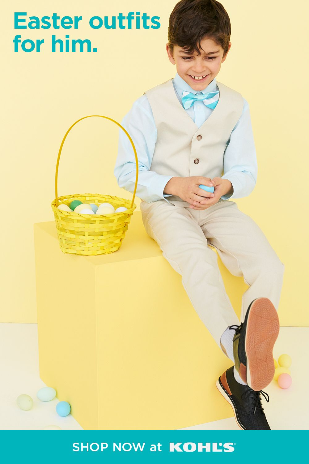 Your little one will be ready for brunch, egg hunts and beyond in a cute Easter outfit. Find handsome boys' suits, colorful bow ties and nice dress shoes he'll love. Shop Easter styles and more at Kohl's and Kohls.com. #easter #kidsstyle