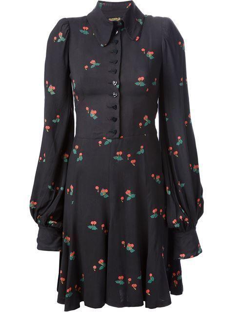 Cool black dress with a nice print