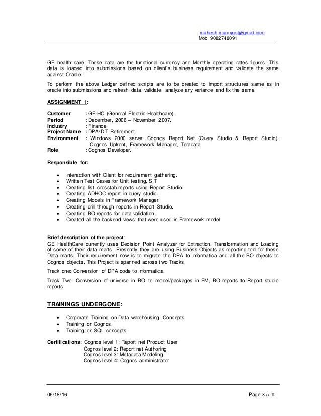 Cognos System Administrator Resume Admin Resume Samples For System - business object administrator sample resume