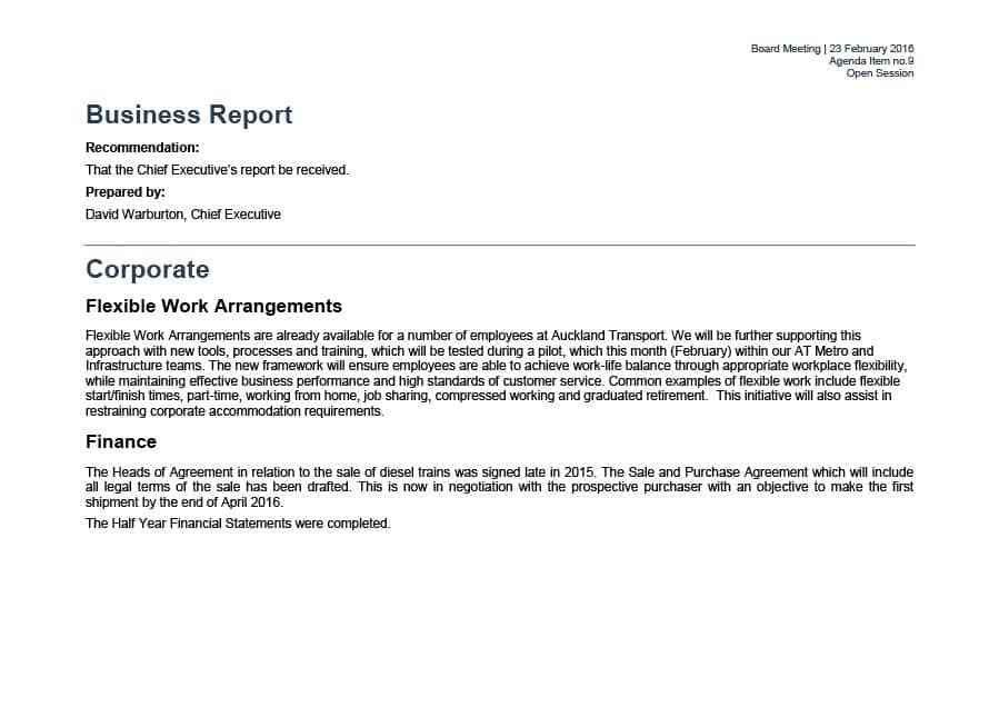 Template For Business Report 8 Business Report Template Free Word - format for a business report