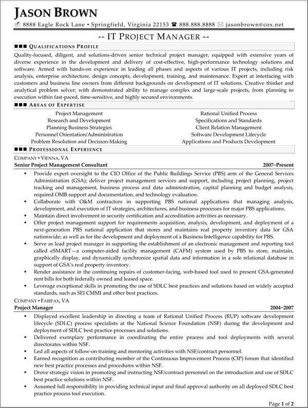 Federal Resume Examples Federal Resume Sample And Format The - examples of federal resumes