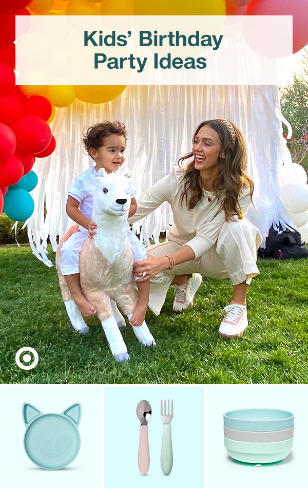 Plan a toddler party like Jessica Alba with kids' birthday ideas, themes, decor, food & invitations.