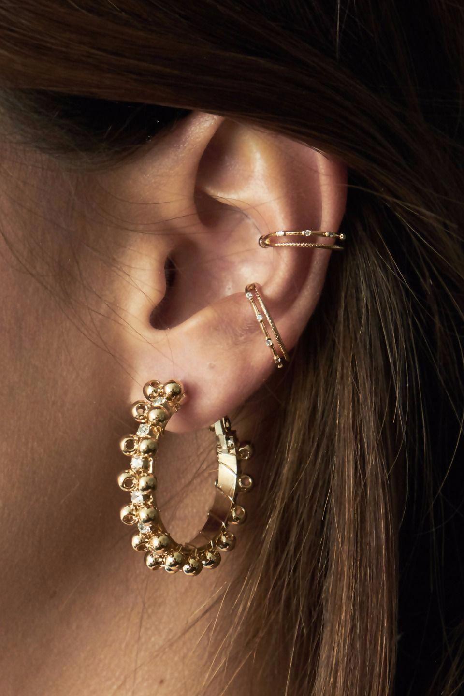 gold earrings . #goldearrings