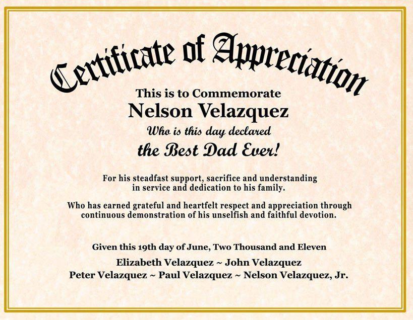 certificate of appreciation wording examples