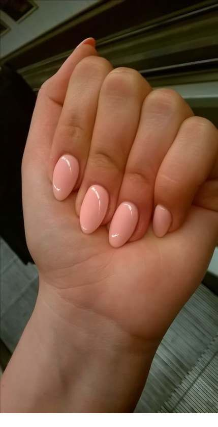 Nice beige simple nails