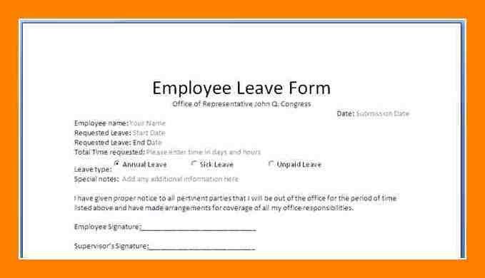 ... Leave Application Format For Employee 5 Leave Application Format   Leave  Application Form For Office ...  Format For Leave Application