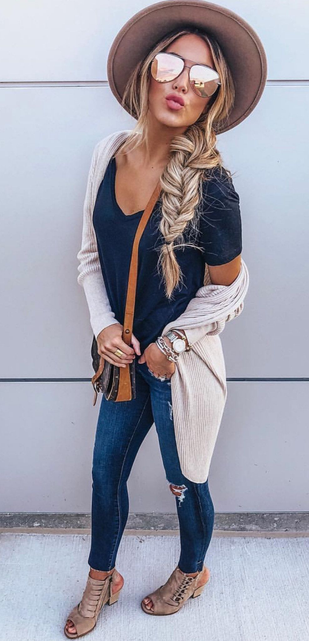 grey cardigan #spring #outfits
