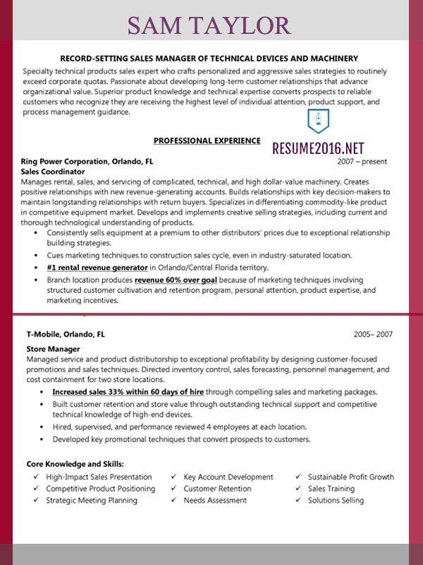 Business Transient Sales Manager Sample Resume Business Transient
