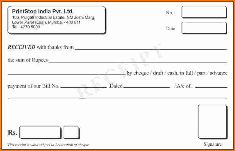 Sample Of Receipt Book Receipt Book Template 8 Free Sample - free receipt book