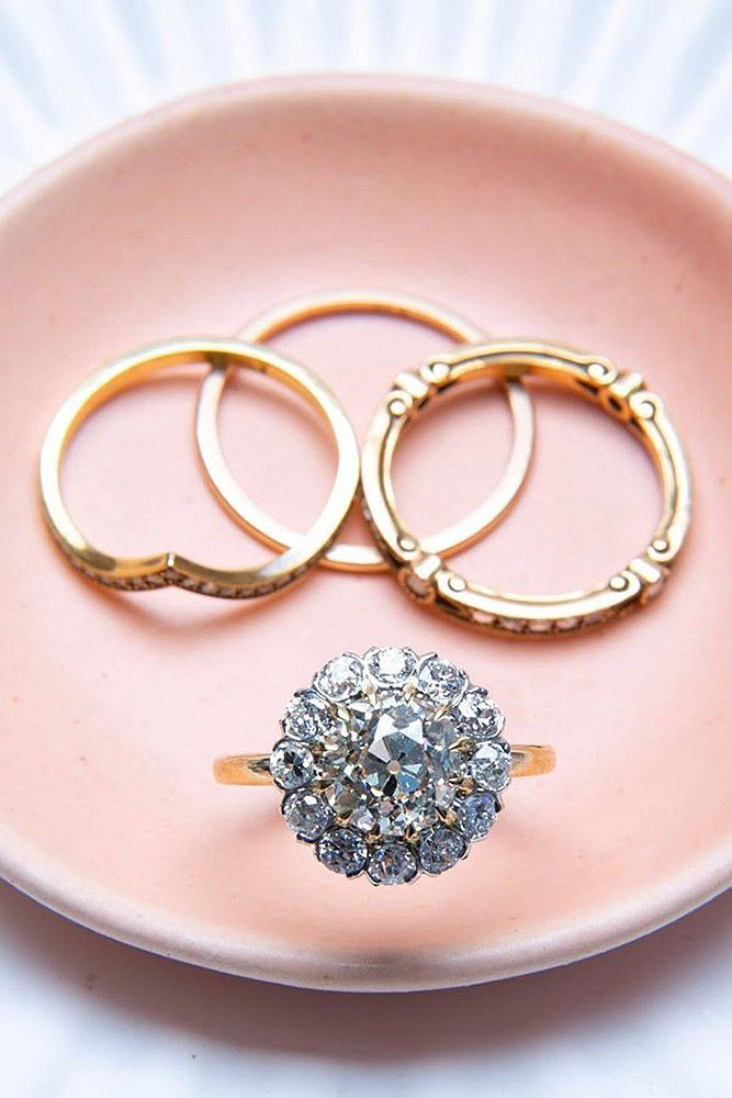 39 Top Round Engagement Rings: Best Ideas ❤ round engagement rings floral halo gold #weddingforward #wedding #bride