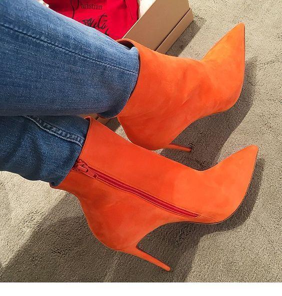 I like orange boots