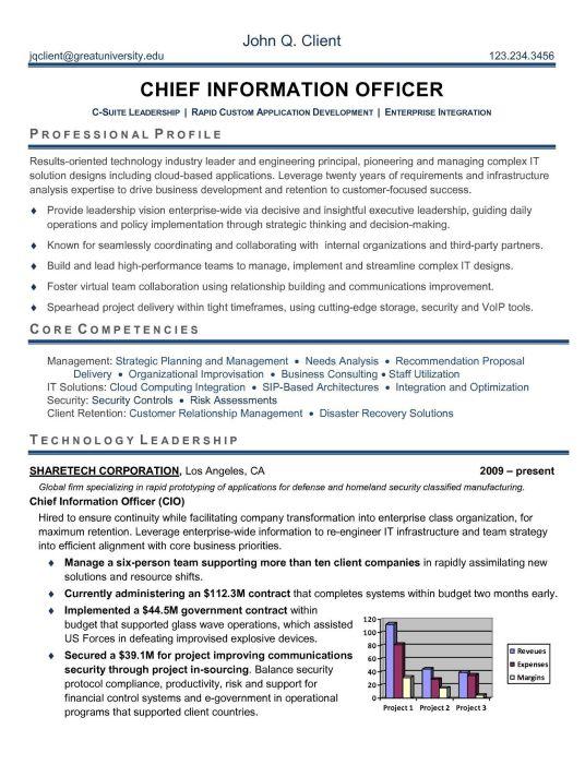 sample cio resume it resume example sample cio resumes resume cv cloud computing resume