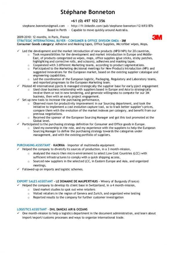 Export Assistant Sample Resume Bottlr Co - shalomhouse