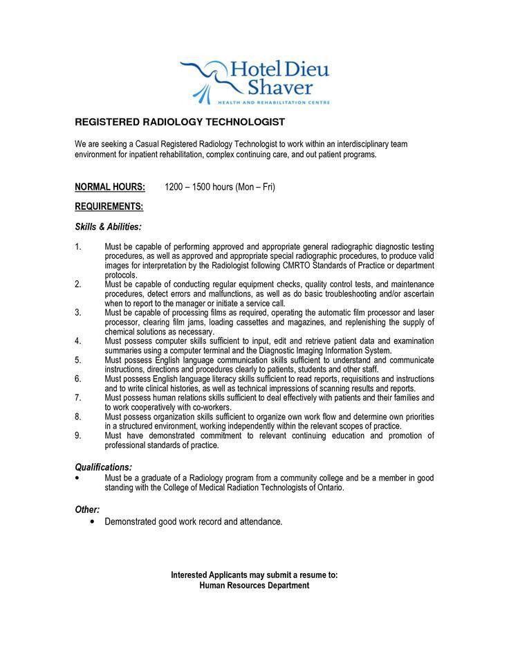 radiologic technologist resume samples resume cv cover letter